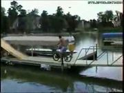 Bike Jump Into Lake Goes Wrong