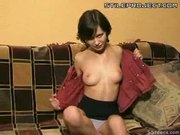 Teen Natalia strips and shows ass