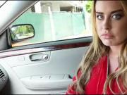 Huge boobs blonde teen babe Corinna Blake fucked in the car