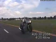 Epic Fail Wheelie Launches Girl Off Motorcycle