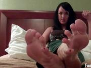 Get on your knees and suck on Mandy Taylors toes