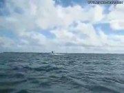 Kite Surfer Boat Jump Fail