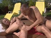 Federica Tommasi - Euro slut fucks near pool
