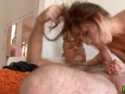 Naughty Ariana Grand pleases a horny old mans big cock
