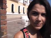 Big tits amateur slut Valentina Nappi fucked in public