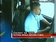Bus Driver Crashes While Texting