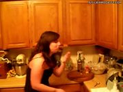 Madi Attempts The Cinnamon Challenge Again With Whiskey