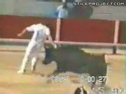 Guy Gets Gored In The Ass By Chasing Bull