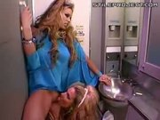Lesbian Hotties Fuck In Airplane Bathroom