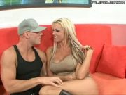 Tanya James - a blonde big tits slut, gets a deep pounding