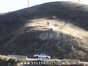 bike rider jump epic fail!