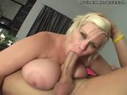 sloppy fat big tit blonde sucks and fucks