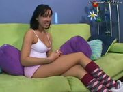 Tia Thomas - Young amateur on couch