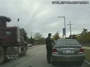 How To Turn Speeding Ticket Into Jail Time - Guy Backs Up Onto A Cop Car