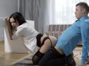 Good Sexy Assistant Helps Boss With His Boner