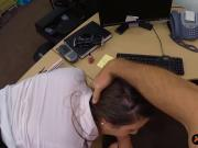 Round ass woman fucked by horny pawn guy at the pawnshop