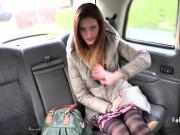 Lucky taxi driver fucks skinny babe on backseat