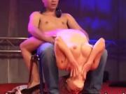 Horny striper riding a lucky guy