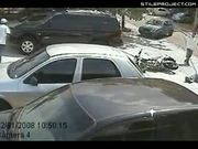 Biker Sent Flying By Crash With Car