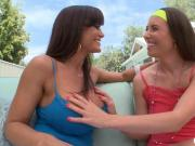 Lisa Ann and Casey Calvert anal threesome by horny dude