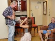 Cute Teen Naomi Alice Gets Freaky With Rich Old Men