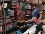 Thief Caught Brooke Bliss Fucking Office Cop Desk