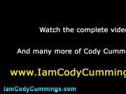 Cody Cummings cock tug and spunk shot