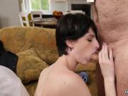 Old and young couples outdoors She even gets caboose plumbed until