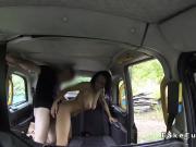 Pierced cunt amateur bangs in cab pov