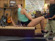 Big boobs amateur woman gets railed by pervy pawn man