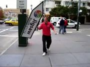 Crazy sign dance