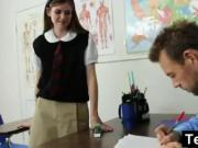 Schoolgirl Riding Her Teachers Big Dick