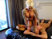 Big tits blonde masseuse Lolly Ink twat banged by client