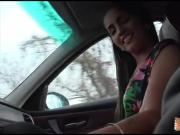 Tight teen babe hitchhikes and gets banged by stranger