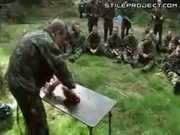 Commando survival training - killing and eating animals