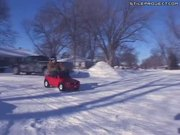 Drifting With Over-Powered Power Wheels