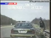 Cop Nearly Taken Out By Car Crash