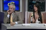 why italian TV is the best! huge tit hosts boobs falling out!