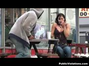 Asshole rips random girls clothes off in public and cums on them!