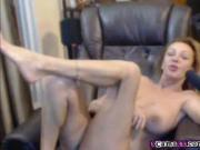 Busty big tit milf teases her pussy on live webcam