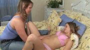 Older Woman Bent Over By Teen's Dildo!