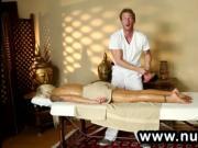 Perfect busty blonde got massage