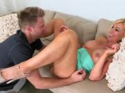 Blonde Cougar Sasha Sean Seduces Horny Pool Boy