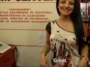 Czech girl Aysha Rouge analyzed by her customer for cash