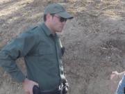 A Border Patrol Agent caught this amateur slut Alex who was DTF