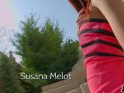 Threesome creampie action for Susana Melot