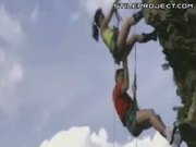 Extreme Heights Sex While Hanging Off A Mountain