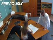 Surprised female patient fucks doctor