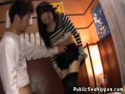 Publicsex nippon gets a mouthful of cum