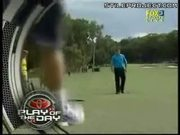 Kangaroo Plays With His Balls On Golf Course